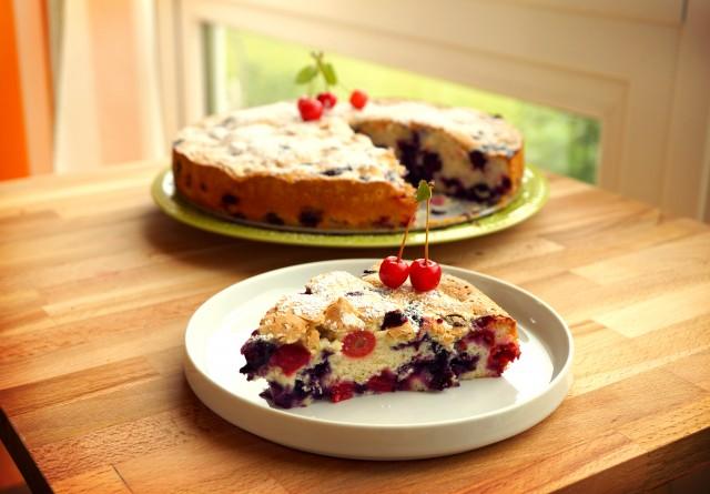 Cherry-Blueberries Charlotte