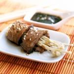 Steak with Enoki Mushrooms