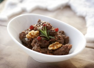 Venison with Prunes and Walnuts