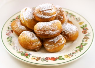 Cottage Cheese Donuts with Condensed Milk