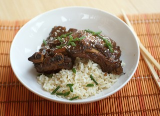 Asian-Sesame Pork Ribs in Crock-pot