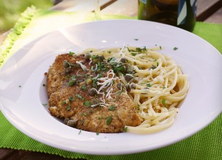 Chicken Piccata with Pasta