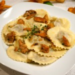 Ravioli with Meat and Chanterelle Mushroom Sauce