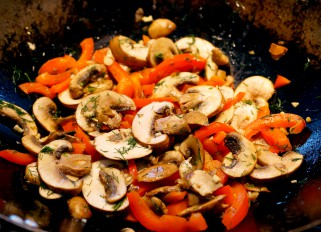 Mushrooms with Bell Pepper