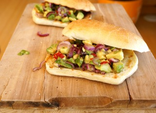 Sandwich with Avocado Salsa