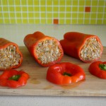 Stuffed Bell Peppers with Meat and Rice
