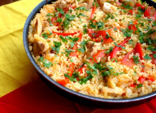 Paella with Chicken and Chorizo
