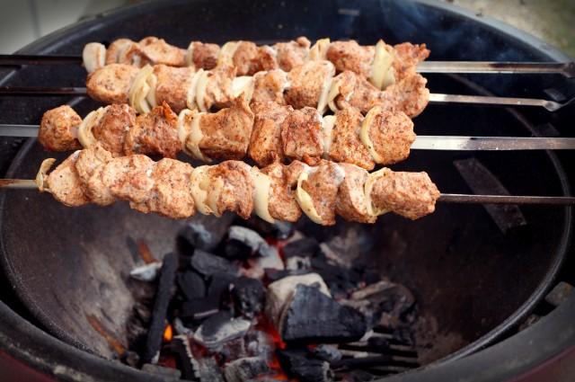 Marinated Pork Kebab in Pomegranate Juice