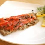 Gravlax (salted salmon)