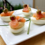 Stuffed Salmon Eggs
