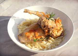 Rabbit with Herbs and White Wine