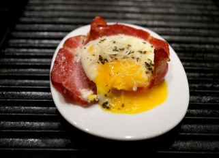 Baked Egg with Ham