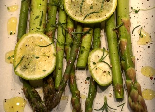 Asparagus with lime and herbs