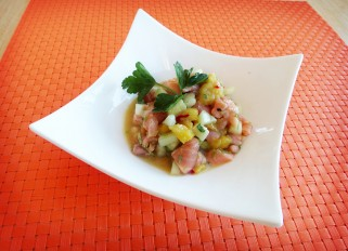 Salmon Ceviche with Mango