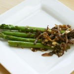 Asparagus with Onion and Soy Sauce