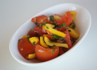 Salad with Marinated Tomatoes
