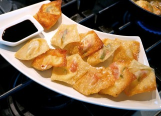 'Italian Wontons' with Balsamic Sauce