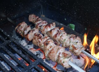 Grilled Lamb with Rosemary and Garlic
