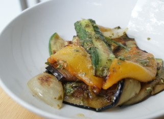 Grilled Vegetables with Basil Sauce