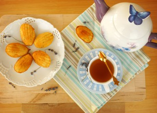 Madeleine Cookies with Lavender