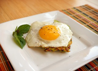Zucchini Pancakes With Avocado and Egg