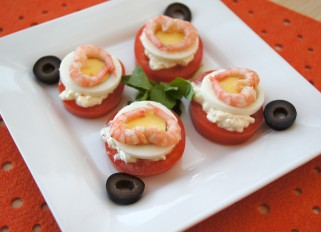 Tomato with Egg and Shrimp