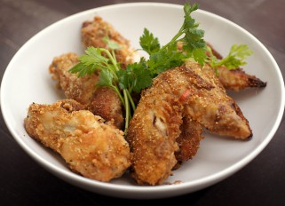 Breaded Baked Chicken Wings