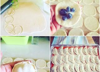 Blueberry vareniki (dumplings or pierogi)