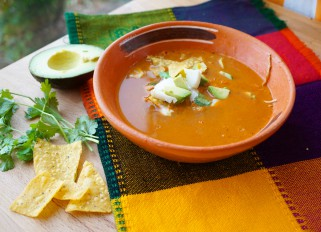 Sopa Azteca or Tortilla Soup