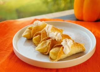 Pumpkin mousse cannoli