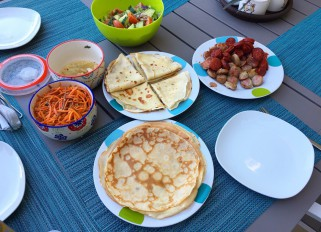 Maslenitsa, Mexican stile! :) Crepes with Cream cheese and Nutella and Crapes with chorizo