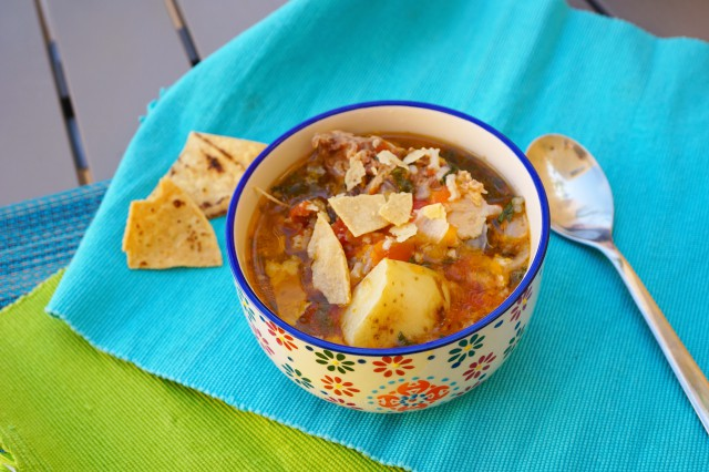 Caldo de pollo, homemade Mexican chicken soup