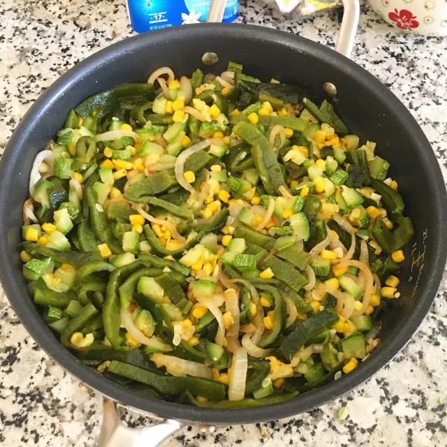 Zucchini, Corn, Poblano Rajas