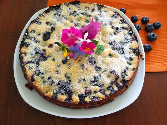 Blueberry lime cake