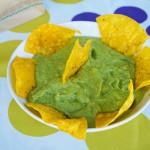 Green tomatilla salsa with avocado