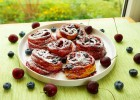 Cherry blueberry swirls