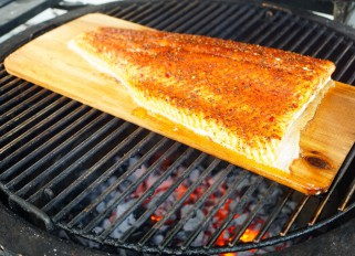 grilled Nordic salmon