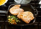 SousVide pork chops with herbs and garlic