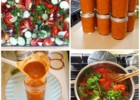 Baked Vegetables and Herbs Homemade Tomato Sauce (Canning)