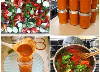 Roasted tomato -vegetables sauce with herbs