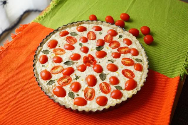 Tomato Mozzarella Feta Cheese Tart