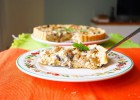 Quiche with Chicken, Mushrooms and Cheese