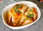Chicken Marinated in Mineral Water and Baked with Garlic Sauce