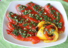 Roasted Marinated Peppers with Garlic