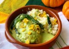Chicken with Creamy Poblano Sauce