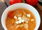 Baked Tomato Cream Soup with Bell Pepper