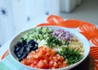 Mediterranean Couscous Salad with a Fresh Lemon Herb Dressing