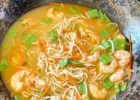 Shrimp coconut soup with vermicelli