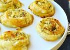 Cheesy-Pesto (homemade) Pinwheels