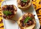 Maple Pecan and cranberries Baked Pears